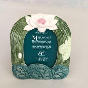 Sweet Lotus Blossom Majolica photo frame